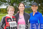 Danielle O'Riordan Killorglin, Moira Dineen Killarney and Clodagh O'Sullivan Killarney at the Killarney Run Maxi marathon in Killarney on Saturday..