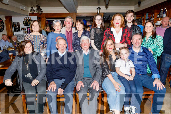 Richard Walsh from Tralee celebrating his 80th in Kerins O'Rahilly's on Saturday.<br /> Seated l to r: Cora and Richard Walsh, PJ Costello, Rachel, Nathan and Ray Walsh.<br /> Back Sharon and Francine Walsh.