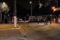 SÃO PAULO-SP-20,08,2014-ESTUDANTES E FUNCIONÁRIOS USP/TRANCASSO- Os Alunos e funcionários em greve realizam  trancasso no começo dessa manhã,na Cidade Universidade,região oeste da cidade de São Paulo,nessa quarta,20(Foto:Kevin David/Brazil Photo Press)