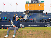 Jordan Spieth (USA) champion golfer of the year and winner of the claret jug during final round of The Open Championship 146th Royal Birkdale, Southport, England. 23/07/2017.<br /> Picture Fran Caffrey / Golffile.ie<br /> <br /> All photo usage must carry mandatory copyright credit (&copy; Golffile | Fran Caffrey)