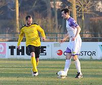 SCT Menen - RC Harelbeke :<br /> Bart Buysse (L) in strijd met Jens Noppe (R)<br /> <br /> Foto VDB / Bart Vandenbroucke