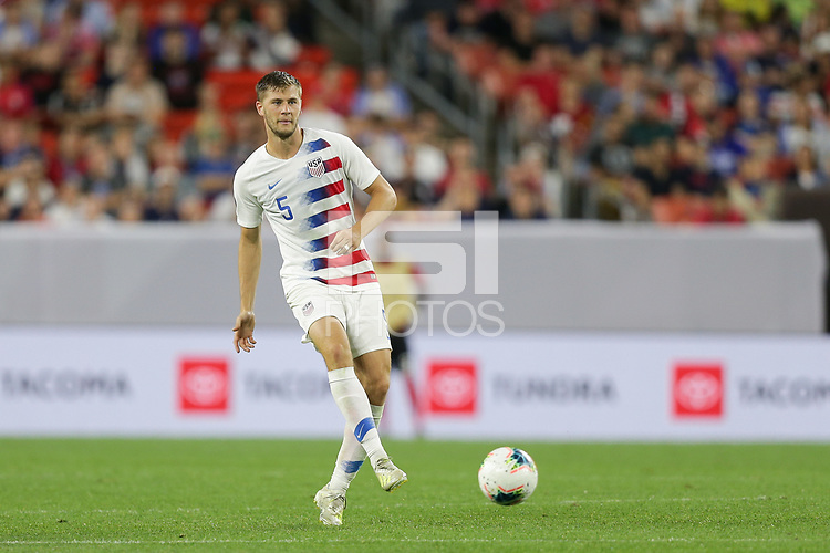 CLEVELAND, OHIO - JUNE 22: Walker Zimmerman #5 during a 2019 CONCACAF Gold Cup group D match between the United States and Trinidad & Tobago at FirstEnergy Stadium on June 22, 2019 in Cleveland, Ohio.