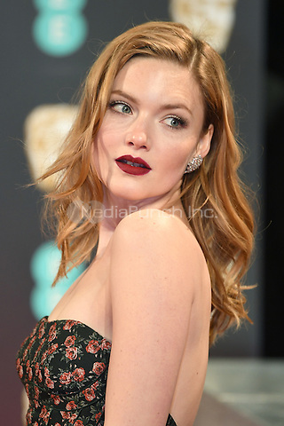 LONDON, ENGLAND - FEBRUARY 12: Holliday Grainger attends the 70th EE British Academy Film Awards (BAFTA) at Royal Albert Hall on February 12, 2017 in London, England.<br /> CAP/BEL<br /> &copy;BEL/Capital Pictures /MediaPunch ***NORTH AND SOUTH AMERICAS ONLY***