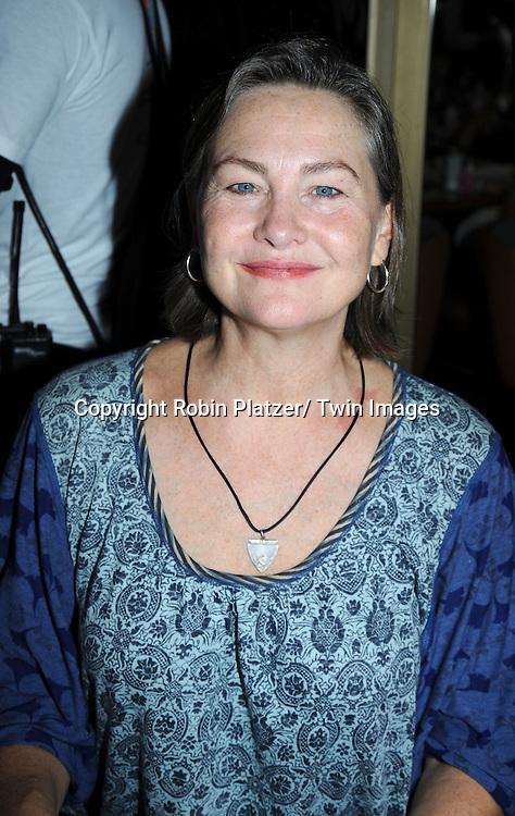 Cherry Jones   posing for photographers at The Broadway Cares/ Equity Fights Aids 24th Annual Broadway Flea Market & Grand Auction on September 26, 2010 in Shubert Alley..photo by Robin Platzer/ Twin Images.212-935-0770