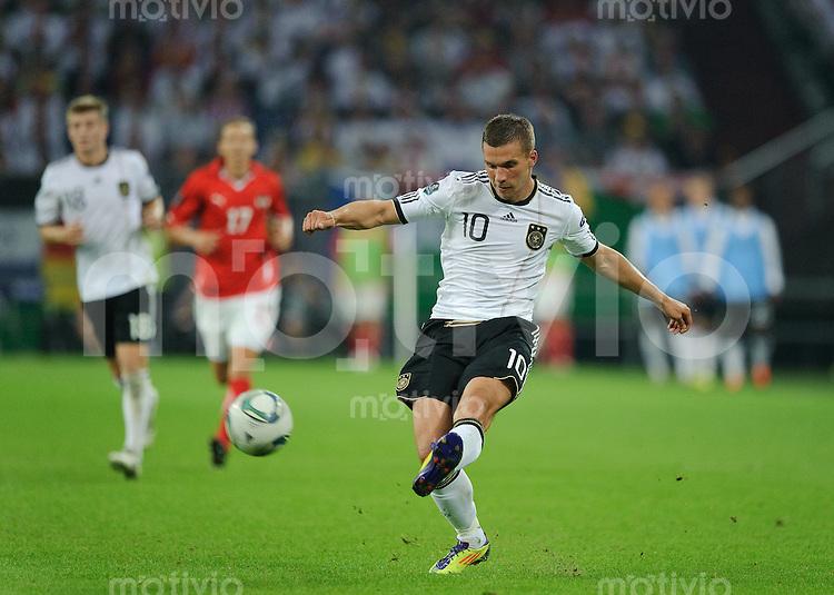 Fussball international EURO 2012 Qualifikation Deutschland - Oesterreich Lukas PODOLSKI (GER).