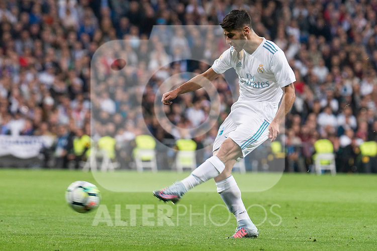 Real Madrid Marco Asensio during La Liga match between Real Madrid and Eibar at Santiago Bernabeu Stadium in Madrid, Spain. October 22, 2017. (ALTERPHOTOS/Borja B.Hojas)