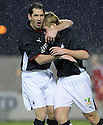 10/01/2009  Copyright Pic: James Stewart.File Name : sct_jspa35_falkirk_v_qots.SCOTT ARFIELD CELEBRATES WITH JACKIE MCNANAMARA AFTER HE SCORES THE SECOND.James Stewart Photo Agency 19 Carronlea Drive, Falkirk. FK2 8DN      Vat Reg No. 607 6932 25.Studio      : +44 (0)1324 611191 .Mobile      : +44 (0)7721 416997.E-mail  :  jim@jspa.co.uk.If you require further information then contact Jim Stewart on any of the numbers above.........