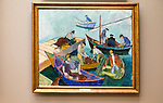 'Mediterranean Fishermen' 1914, oil painting on canvas by Alex Revold 1887-1962, Kode 3 art gallery Bergen, Norway