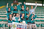 The Black Valley National School football team who beat Tuarin Cathail at the Schools County Finals at Austin Stacks Park on Wednesday. Pictured, front row, from left: Melanie Schmidt, Louise O'Connor, Fay O'Donoghue (captain), Eabha O'Shea and Emer Doyle. Back row: Caoimhe O'Donoghue-Flynn, Hannah O'Donoghue, Fiadhna Tagney, Ruth Brennan and Principal Judy O'Sullivan.