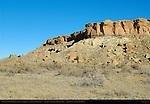 Una Vida Chacoan Great House and Petroglyph Cliffs, Anasazi Hisatsinom Ancestral Pueblo Site, Chaco Culture National Historical Park, Chaco Canyon, Nageezi, New Mexico