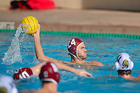 STANFORD, CA - NOVEMBER 23, 2013: Stanford Men's Water Polo faces Cal in a match contested at Avery Aquatic Center on the campus of Stanford University.  Stanford won, 11-10.