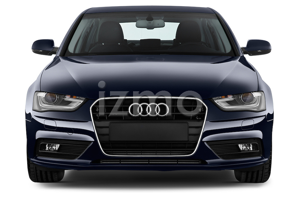 Straight front view of a 2014 Audi A4 AMBITION LUXE 4 Door Sedan 2WD