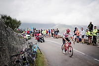 Niklas Eg (DEN/Trek-Segafredo) up the Alto de La Cubilla<br /> <br /> Stage 16: Pravia to Alto de La Cubilla. Lena (144km)<br /> La Vuelta 2019<br /> <br /> ©kramon