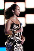 Alicia Keys - hosting the MTV ASIA AID Awards held at the Siam Paragon Arena in Bangkok Thailand - 03 Feb 2005.  Photo credit: George Chin/IconicPix