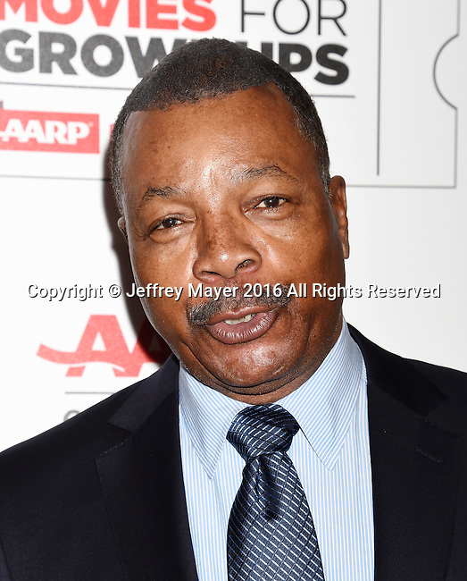 BEVERLY HILLS, CA - FEBRUARY 08: Actor Carl Weathers attends AARP's Movie For GrownUps Awards at the Regent Beverly Wilshire Four Seasons Hotel on February 8, 2016 in Beverly Hills, California.