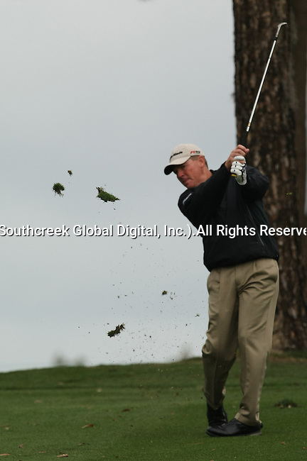 18 March 2010: John Sanden takes a divit on his third shot of the par 5 #5 hole in the first round of the Transitions Championship Tournament at Innisbrook Golf Resort in Palm Harbor, Florida.