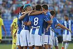 Leganes players during the XXXVII trophy of Legane's City between CD Leganes and Villarreal CF at Butarque Stadium. August 13, 2016. (ALTERPHOTOS/Rodrigo Jimenez)