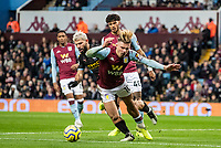 Aston Villa's Jack Grealish (right) competing with Manchester City's Sergio Agüero <br /> <br /> Photographer Andrew Kearns/CameraSport<br /> <br /> The Premier League - Aston Villa v Manchester City - Sunday 12th January 2020 - Villa Park - Birmingham<br /> <br /> World Copyright © 2020 CameraSport. All rights reserved. 43 Linden Ave. Countesthorpe. Leicester. England. LE8 5PG - Tel: +44 (0) 116 277 4147 - admin@camerasport.com - www.camerasport.com