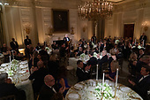 United States President Donald J. Trump makes remarks at the 2019 Governors' Ball in the State Dining Room at the White House in Washington, DC on Sunday, February 24, 2019.<br /> Credit: Chris Kleponis / Pool via CNP