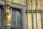 Detail of exterior of Westminster Abbey, London UK