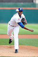 Buffalo Bisons pitcher Jeurys Familia #28 during a game against the Pawtucket Red Sox at Coca-Cola Field on June 16, 2012 in Buffalo, New York.  Pawtucket defeated Buffalo 8-5.  (Mike Janes/Four Seam Images)
