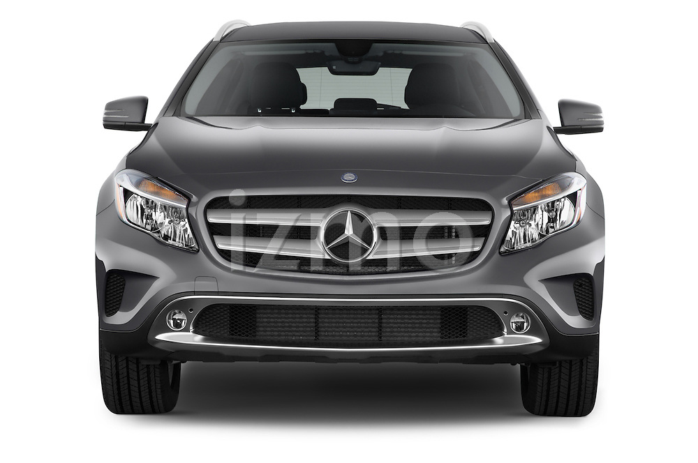 Straight Front View of 2015 Mercedes Benz GLA-Class 250 5 Door SUV Stock Photo