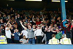Sheffield Utd fans celebrate during the Championship match at the Hillsborough Stadium, Sheffield. Picture date 24th September 2017. Picture credit should read: Simon Bellis/Sportimage