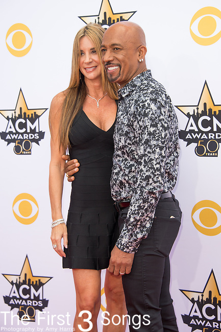 Tara Fowler and Montel Williams attend the 50th Academy Of Country Music Awards at AT&T Stadium on April 19, 2015 in Arlington, Texas.