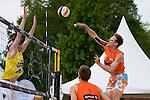 09.05.2015, Muenster, Schlossplatz<br /> smart beach tour, Supercup MŸnster / Muenster, Hauptfeld<br /> <br /> Block Markus Bšckermann / Boeckermann - Angriff David Poniewaz <br /> <br />   Foto &copy; nordphoto / Kurth