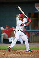 Harrisburg Senators first baseman Jose Marmolejos (3) at bat during a game against the Bowie Baysox on May 16, 2017 at FNB Field in Harrisburg, Pennsylvania.  Bowie defeated Harrisburg 6-4.  (Mike Janes/Four Seam Images)