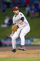 Great Lakes Loons pitcher Gavin Pittore (45) delivers a pitch to the plate against the South Bend Cubs on May 18, 2016 at Dow Diamond in Midland, Michigan. Great Lakes defeated South Bend 5-4. (Andrew Woolley/Four Seam Images)