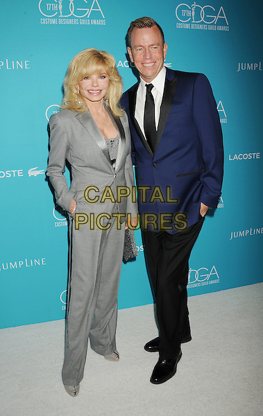 BEVERLY HILLS, CA - FEBRUARY 17: Actress Loni Anderson (L) and costume designer Christopher Lawrence attend the 17th Costume Designers Guild Awards at The Beverly Hilton Hotel on February 17, 2015 in Beverly Hills, California.<br /> CAP/ROT/TM<br /> &copy;TM/ROT/Capital Pictures