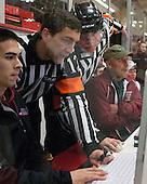 Jean-Yves Roy, Scott Whittemore - The Harvard University Crimson defeated the Colgate University Raiders 4-1 (EN) on Friday, February 15, 2013, at the Bright Hockey Center in Cambridge, Massachusetts.