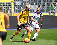 20190810 - ANDERLECHT, BELGIUM : Anderlecht's Laura Deloose (r) pictured defending on LSK's Elise Thorsnes (left) during the female soccer game between the Belgian RSCA Ladies – Royal Sporting Club Anderlecht Dames  and the Norwegian LSK Kvinner Fotballklubb ladies , the second game for both teams in the Uefa Womens Champions League Qualifying round in group 8 , saturday 10 th August 2019 at the Lotto Park Stadium in Anderlecht  , Belgium  .  PHOTO SPORTPIX.BE for NTB NO | DAVID CATRY