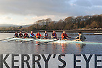 FIRST: Kenmare rowing and boat club launched their first 8 man sweep on Sunday, the crew, seen here for the first time on the water at Kenmare Bay, are cox Paudie Hanley, Mike Donovan, Sean Regan, Michael Price, Colm Horgan, Vincent Coakley, Maurice Fitzgerald, Daniel O'Shea and Conor Daley.