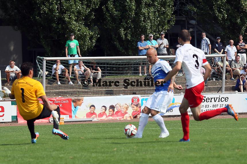 Maurice Exslager (SV 98) gegen Maurice PAul und Joern Kohl (Dreieich)