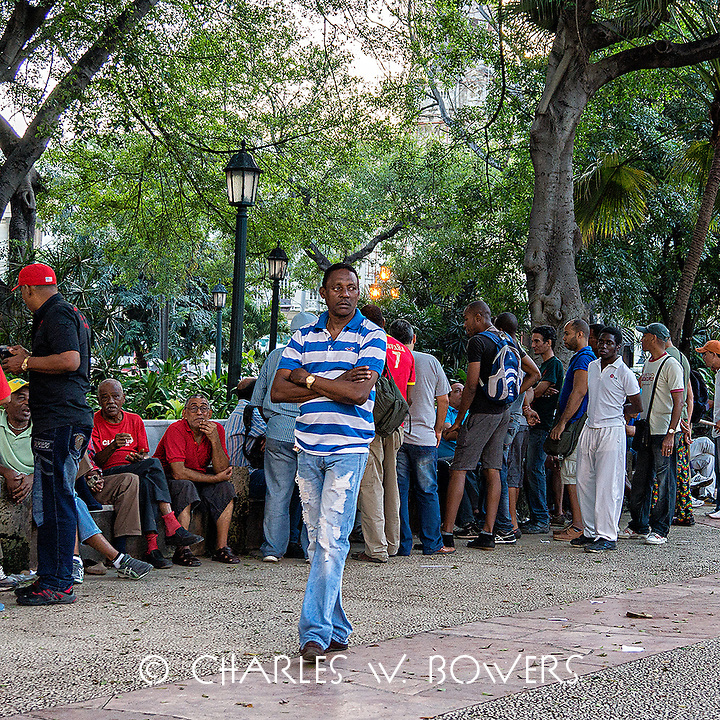 Faces Of Cuba - Sunday is for going to the park and talking.<br />