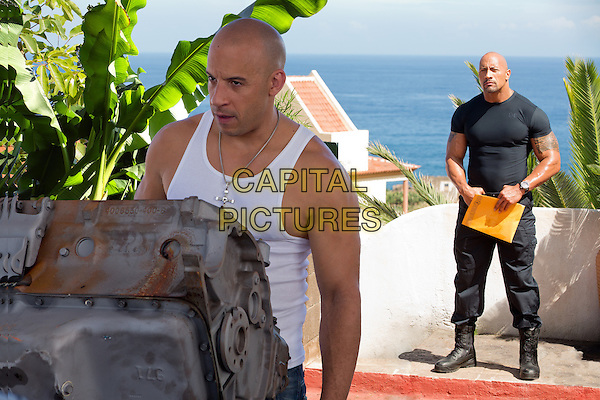 VIN DIESEL, DWAYNE &quot;THE ROCK&quot; JOHNSON<br /> in Fast &amp; Furious 6 (2013) <br /> *Filmstill - Editorial Use Only*<br /> CAP/FB<br /> Supplied by Capital Pictures