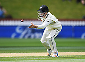 4th December 2017, Basin Reserve, Wellington, New Zealand; International Test Cricket, Day 4, New Zealand versus West Indies;  Henry Nicholls close in fielding