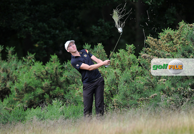 Jonas Liebich of Germany during the Second Round of The Brabazon Trophy 2015 at Notts Golf Club, Nottingham, England. Picture: Golffile | Richard Martin-Roberts<br /> All photo usage must carry mandatory copyright credit (&copy; Golffile | Richard Martin- Roberts)