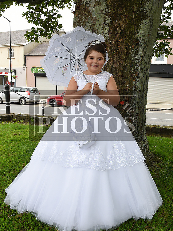 Sophie Gavin who received first holy communion in St. Cianan's church Duleek.  Photo:Colin Bell/pressphotos.ie