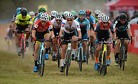 NWA Democrat-Gazette/ANDY SHUPE<br /> UCI elite men riders start their race Saturday, Oct. 5, 2019, during the inaugural FayetteCross two-day cyclocross race series on Millsap Mountain at Centennial Park in Fayetteville. Visit nwadg.com/photos to see more photographs from the race.