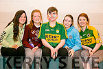Mercy Mounthawk Culture Week as part of YSI project - Zumba dance classes in School gym on Monday pictured l-r  Chloe Hogan, Katie Ryan, David Broderick, Amy Lawlor and Moira Foley