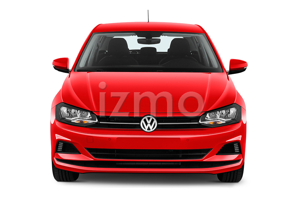 Car photography straight front view of a 2019 Volkswagen Beetle S 5 Door Hatchback