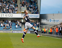 GOAL - Millwall's Aiden O'Brien celebrates during the Sky Bet Championship match between Millwall and Ipswich Town at The Den, London, England on 15 August 2017. Photo by Carlton Myrie.