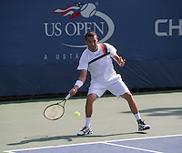 Albert Montannes<br /> Tennis - US Open  - Grand Slam -  Flushing Meadows  2013 -  New York - USA - United States of America - Thursday 30th August 2013. <br /> &copy; AMN Images, 8 Cedar Court, Somerset Road, London, SW19 5HU<br /> Tel - +44 7843383012<br /> mfrey@advantagemedianet.com<br /> www.amnimages.photoshelter.com<br /> www.advantagemedianet.com<br /> www.tennishead.net