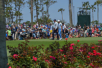Phil Mickelson (USA) and Rickie Fowler (USA) head down 3 during round 1 of The Players Championship, TPC Sawgrass, at Ponte Vedra, Florida, USA. 5/10/2018.<br /> Picture: Golffile | Ken Murray<br /> <br /> <br /> All photo usage must carry mandatory copyright credit (&copy; Golffile | Ken Murray)