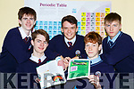 Two St Brendans groups of Scientsists Harry and James Knoblauch and Oran O'Donoghue along with Etham O'Neill and Darragh Fleming whose projects have reached the final of the Young Scientist of the Year
