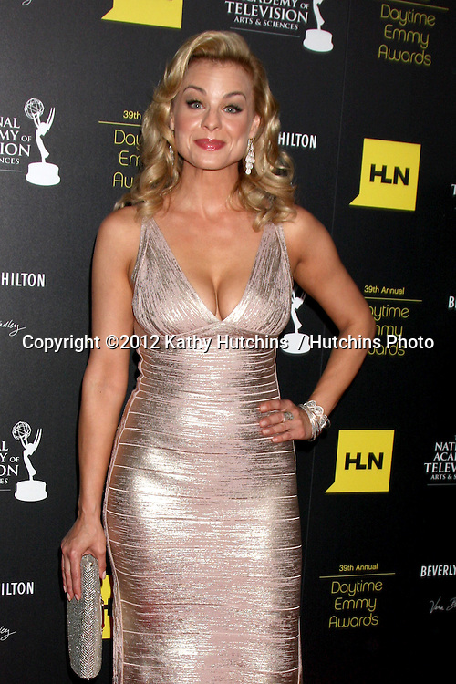 LOS ANGELES - JUN 23:  Jessica Collins arrives at the 2012 Daytime Emmy Awards at Beverly Hilton Hotel on June 23, 2012 in Beverly Hills, CA