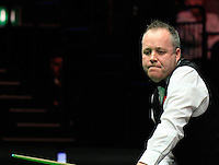 John Higgins rues a missed shot during the Dafabet Masters Q/F 4 match between John Higgins and Stuart Bingham at Alexandra Palace, London, England on 15 January 2016. Photo by Liam Smith / PRiME Media Images